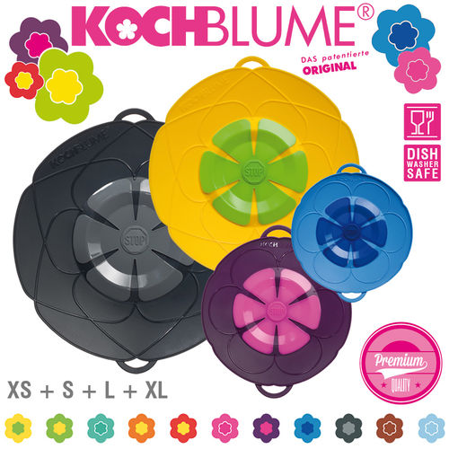 Kochblume - Set of 4 Spill Stopper - XS + S + L + XL