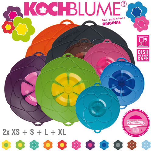 Kochblume - Set of 8 Spill Stopper - 2x XS + S + L + XL