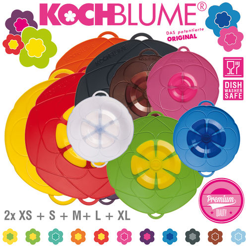 Kochblume - Set of 10 Spill Stopper - 2x XS + S + M + L + XL