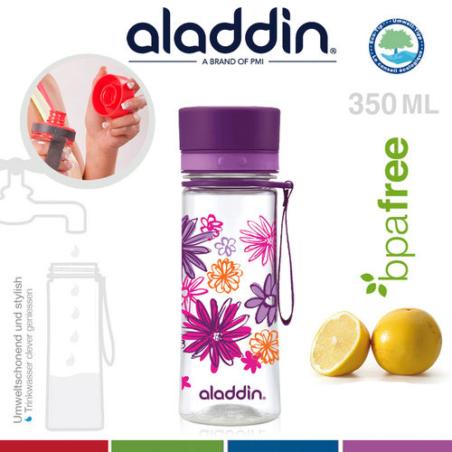 aladdin - Aveo Trinkflasche - Purple Graphics 350 ml