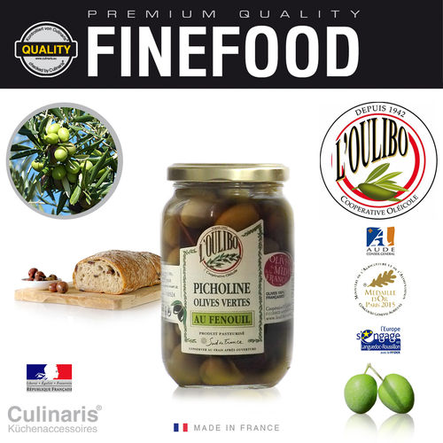 Culinaris - L'Oulibo Olive fennel - Lucques Nature 380 g