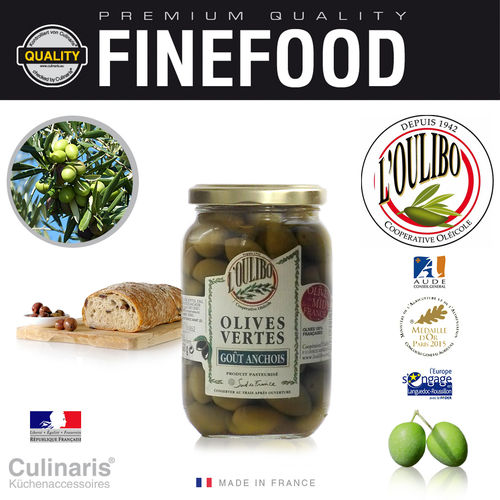 Culinaris - L'Oulibo Olive anchovies - Lucques Nature 380 g