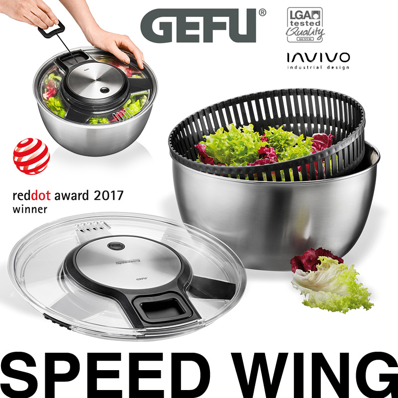 Automatic Potato Peeler Salad Leaves Spinner with Removable Colander
