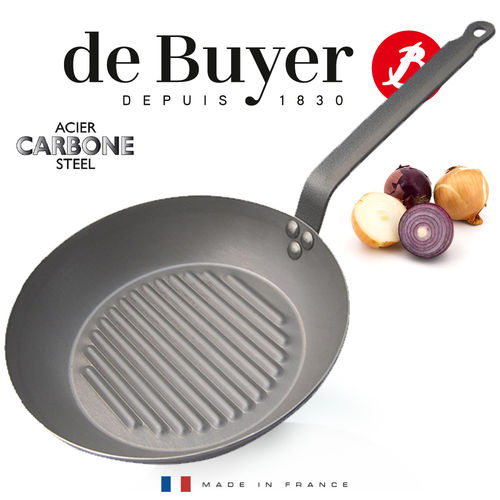 de Buyer - Carbone PLUS - Round Grill Frypan