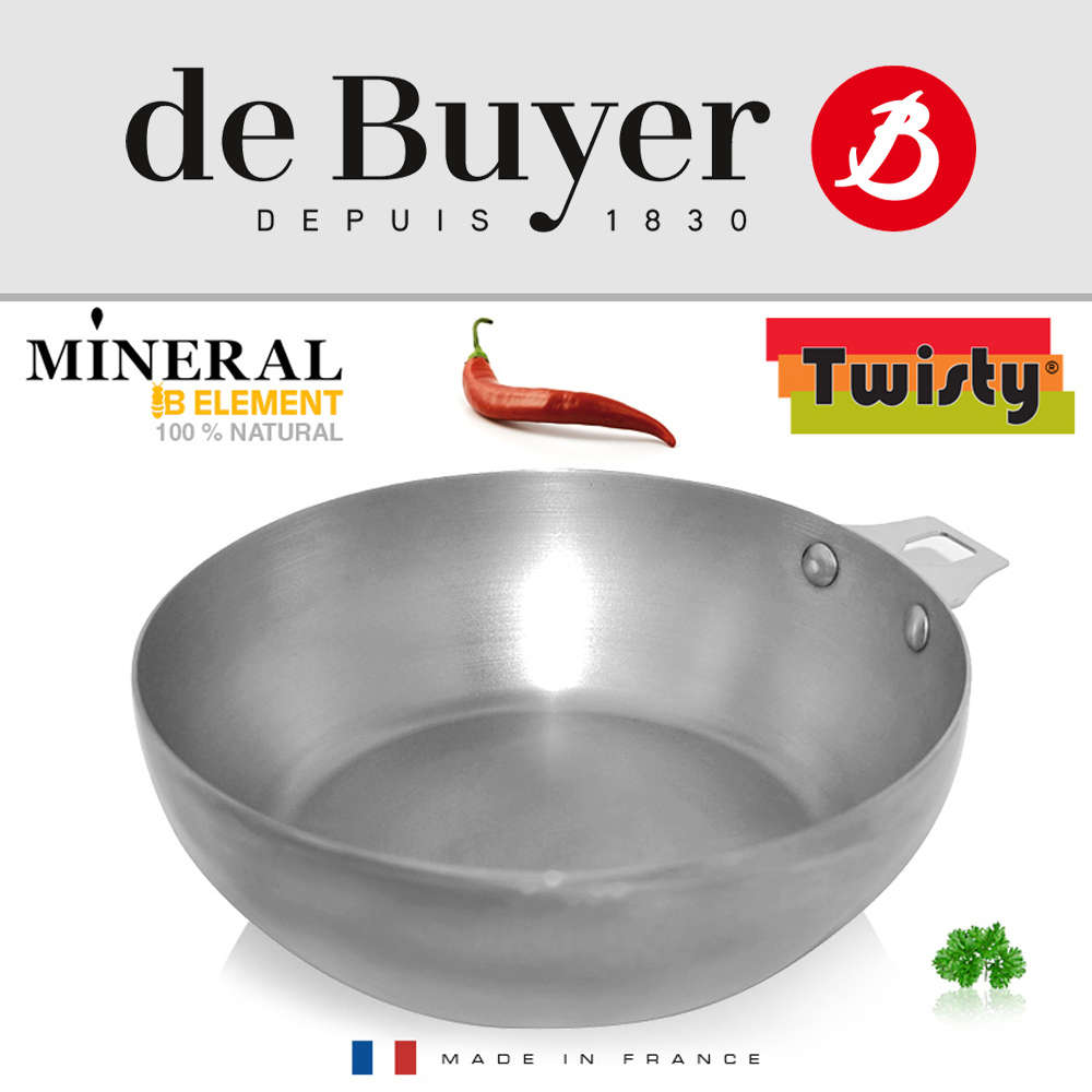 de Buyer - Mineral B Element - Round Country pan 24 cm -Cook