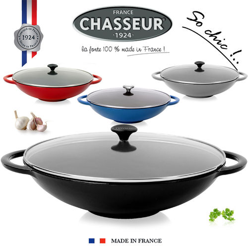 Chasseur - Wok with Glass Lid - 37 cm