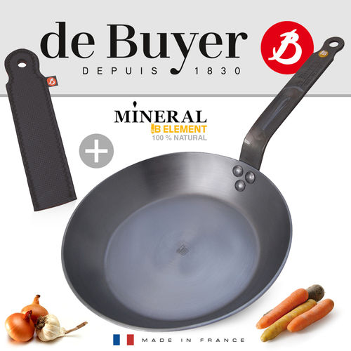 de Buyer - round Frypan - Mineral B Element + Glove