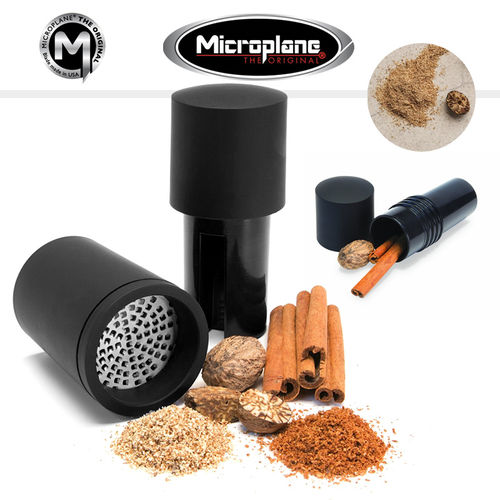 Microplane - Nutmeg mill 2in1 - Black