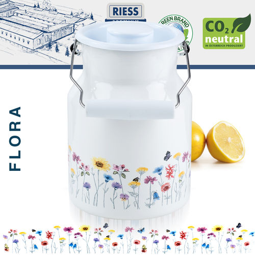 Riess - Porcelain Enamel - Milk Jug with Lid 1,5 L - FLORA