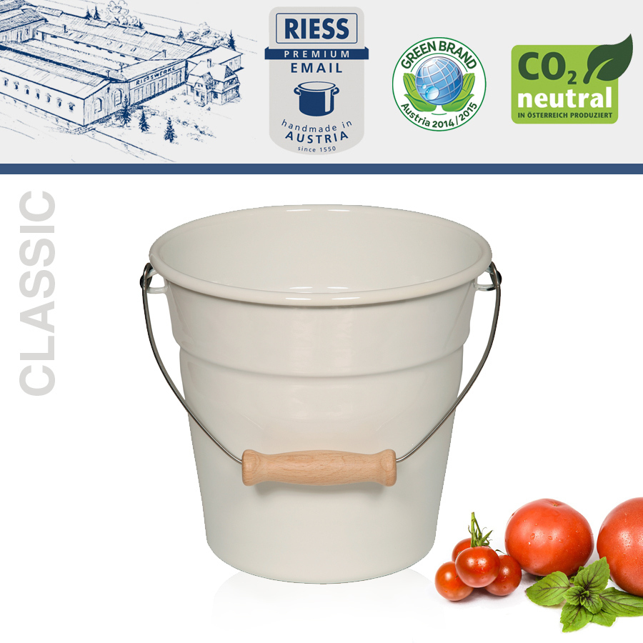 Riess - Emaille - Minieimer 1,75 L - Classic