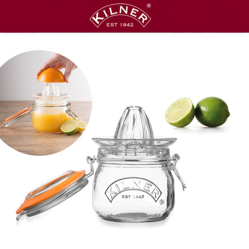 Kilner - Juice Glass Set with Lemon Squeezer