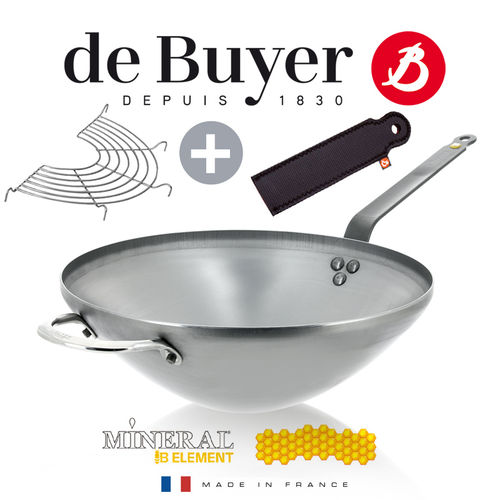 de Buyer - Mineral B Element - WOK 32 cm Set