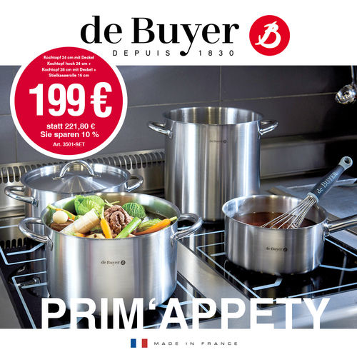 de Buyer - PRIM'APPETY - 6-tlg. Kochgeschirr-Set