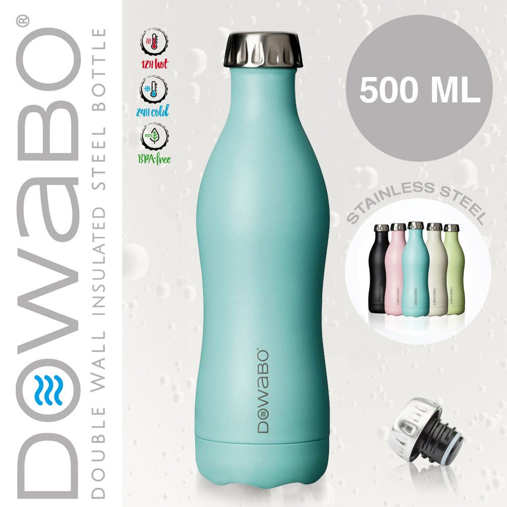Dowabo - Doppelwandige Isolierflasche - Swimming Pool 500 ml