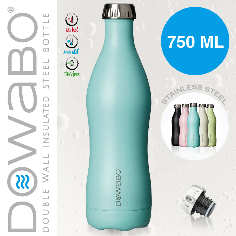 Dowabo - Doppelwandige Isolierflasche - Swimming Pool 750 ml