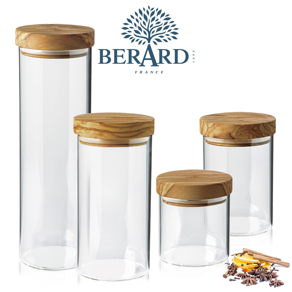 BÉRARD - Storage Jar with Olive Wood Lid