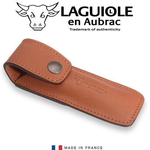 Laguiole - Leather case brown 13 cm