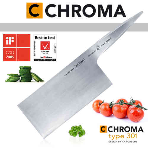 CHROMA Type 301 F.A.Porsche - P-22 Chinese Chopping Knife