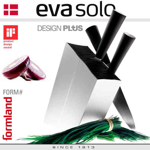 Eva Solo - Knife stand - angled - Silver