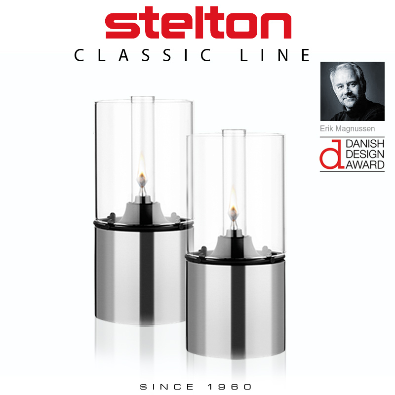 Stelton - Oil lamp with clear glass shade