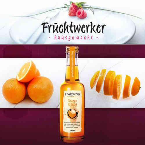 Fruchtwerker - Orange & Essig 250 ML