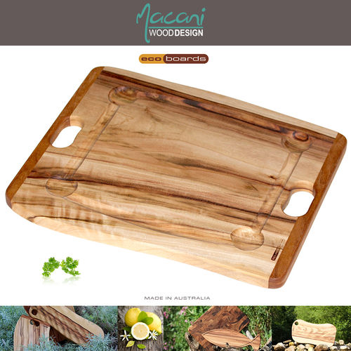 Macani Wood Ecoboards - Chopping board - ca. 50 x 40 cm