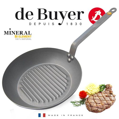de Buyer - round Grill Frypan - Mineral B Element