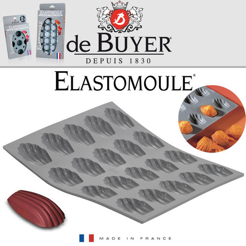 de Buyer - ELASTOMOULE - 20 Mini-Madeleine