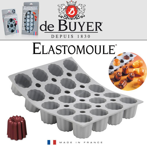 de Buyer - ELASTOMOULE - 20 Mini Cannelé