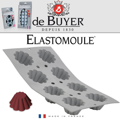 de Buyer - ELASTOMOULE - 8 Mini Brioches