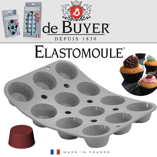 de Buyer - ELASTOMOULE - 12 Muffins