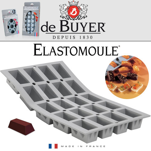 de Buyer - ELASTOMOULE - 20 Mini Cakes