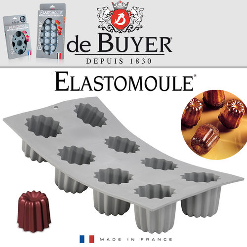 de Buyer - ELASTOMOULE - 8 Cannelé