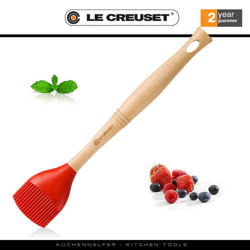 Le Creuset - Backpinsel - Premium Edition - Rot