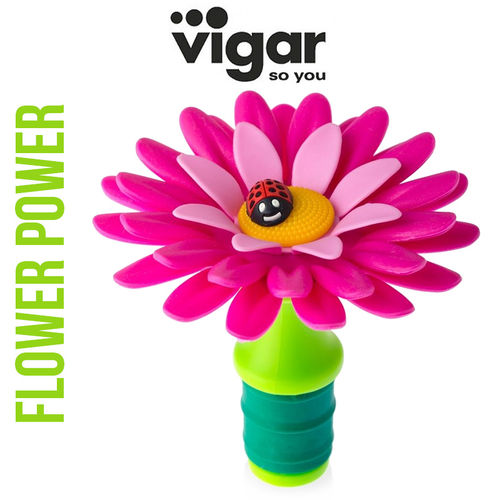 Vigar - Bottle Stopper flower - pink