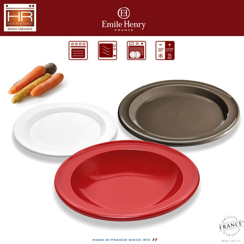 Emile Henry - Plates in 3 sizes