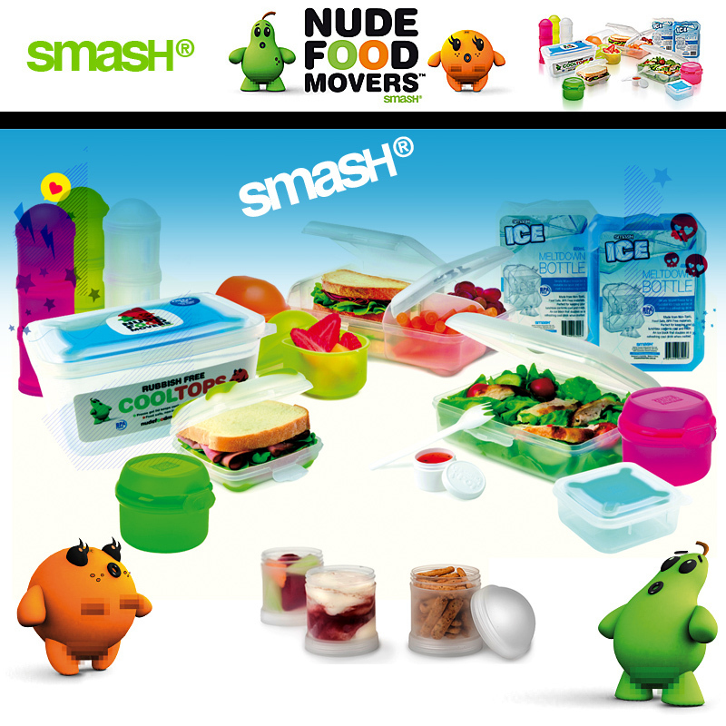 Smash Nude Food Movers Plasticware Double Snack Tubes each