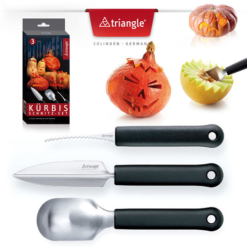 Triangle® - pumpkin carving set 3-pieces