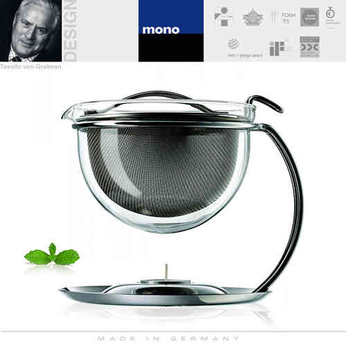 mono - filio - portion teapot with integrated warmer 0,6 l