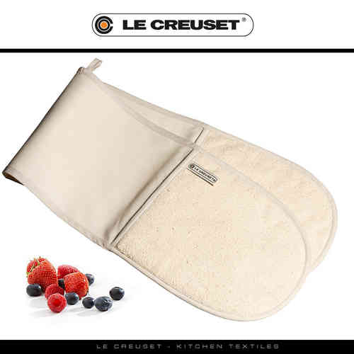 Le Creuset - Double Oven Glove - Almond