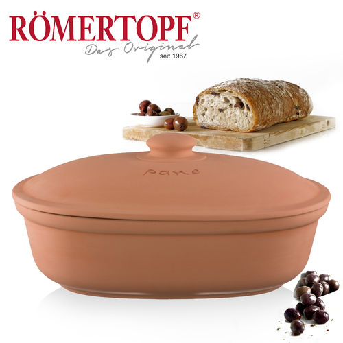 Römertopf - Bread pot oval terracotta