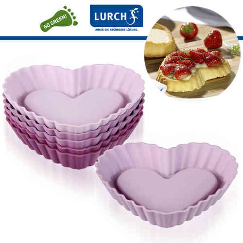 Lurch - Flexiform Tortelett Heart 6er Set Romance