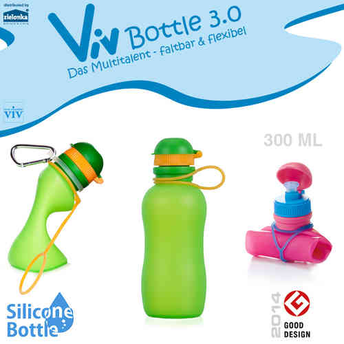 Viv Bottle 3.0 - Foldable Bottle - Green 300 ml