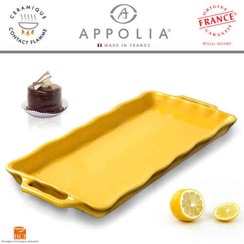 Appolia - Cake Plate rectangular - Yellow