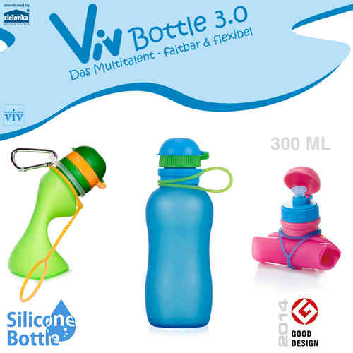 Viv Bottle 3.0 - Foldable Bottle - Blue 300 ml