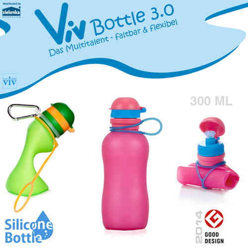 Viv Bottle 3.0 - Foldable Bottle - Pink 300 ml