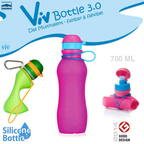 Viv Bottle 3.0 - Foldable Bottle - Pink 700 ml