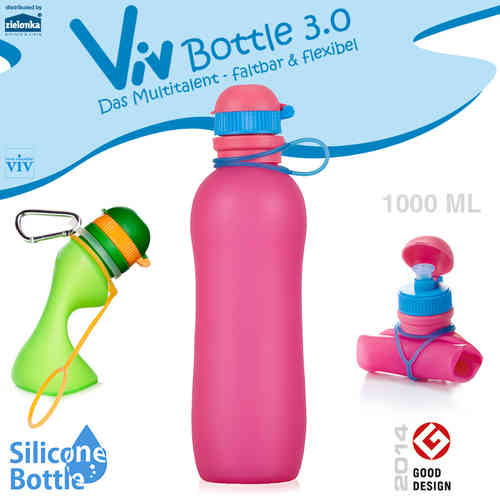 Viv Bottle 3.0 - Foldable Bottle - Pink 1000 ml