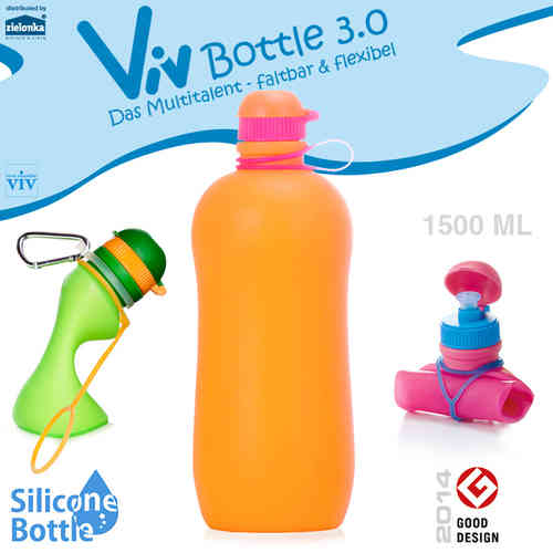 Viv Bottle 3.0 - Foldable Bottle - Orange 1500 ml