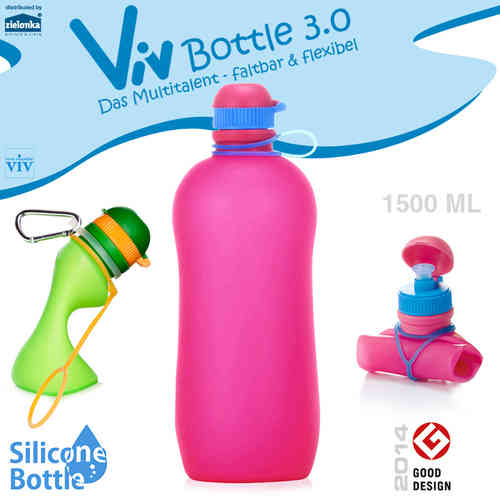 Viv Bottle 3.0 - Foldable Bottle - Pink 1500 ml